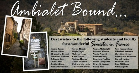 Bon Voyage to Students and Faculty Bound for Ambialet!