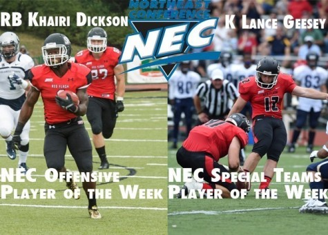 Dickson, Geesey Named NEC Players of the Week
