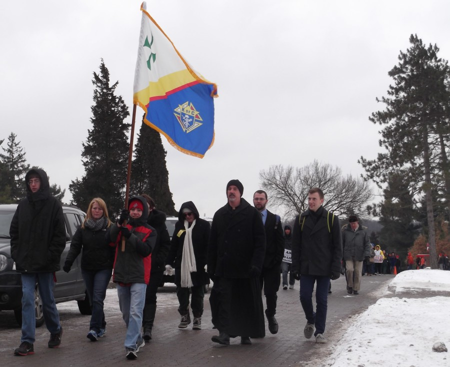 Students and Community Members Join in Annual March Against Abortion