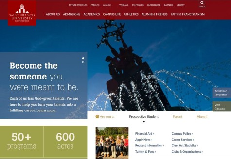 Forthcoming website redesign intended to attract students