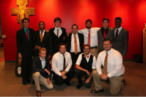 Psi Upsilon Fraternity: Back row left – Matt Herbert, Demetrius Turner, Sam Kimmel, Danny Bell, Alex Romeo, Josh Graham, and Jonny Cooper Front row left – Kale Burket, Nevin Pagan, Zach Sterner, and Ryan Cox