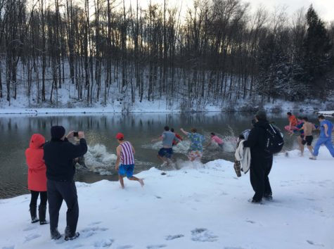 TKE brothers Plunge for charity