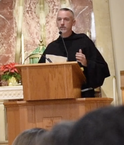 Father Malachi delivers State-of-the-University Address at JFK