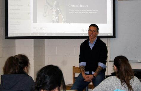 SFU basketball legend, decorated police officer shares experiences with students