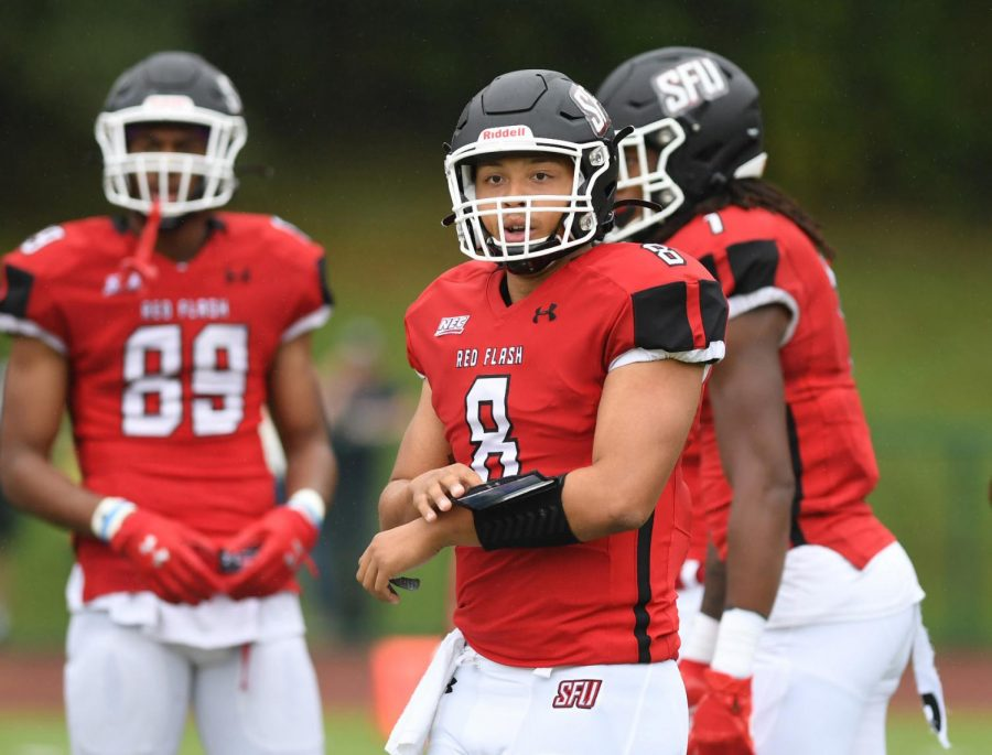 SFU Thumps Merrimack for 11th Straight Win in Home-Opener