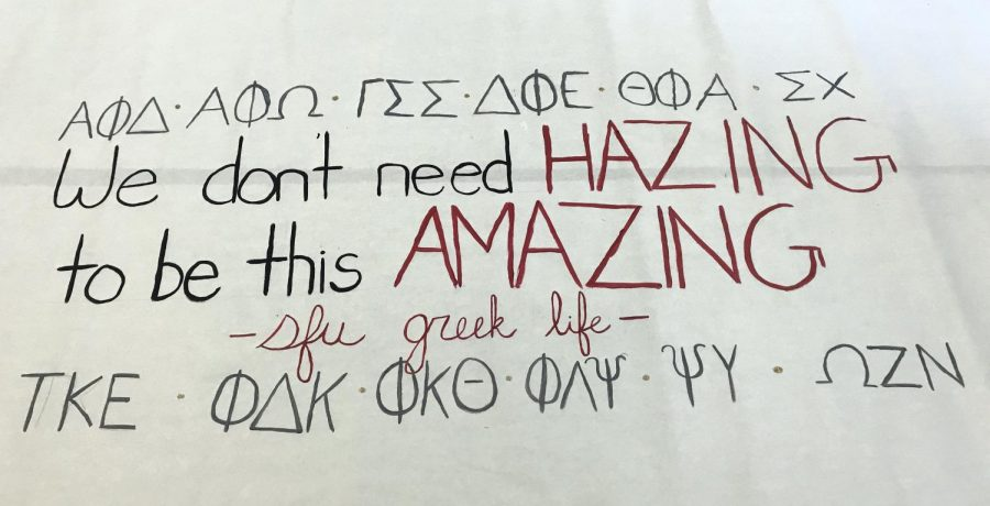 Campus Greeks Spread Message on Dangers of Hazing