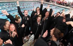 Swim Team Competing at NEC Championship