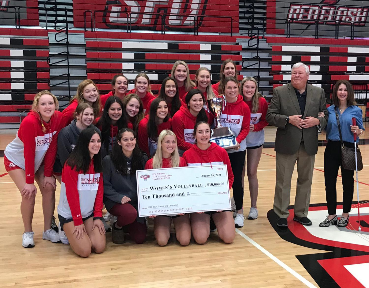 Women's Volleyball Team Wins 2020-21 Frankie Cup