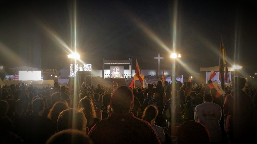 Scene from Matt Fraley Blog #6: the Vigil at World Youth Day