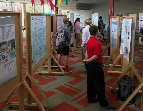 Students share internship experiences at poster session