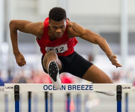 Men finish second, women seventh at NEC indoor track and field finals