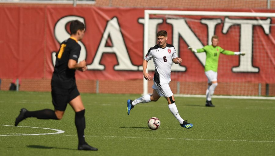 Men's Soccer Knocks Off Previously Unbeaten Duquesne, 2-1