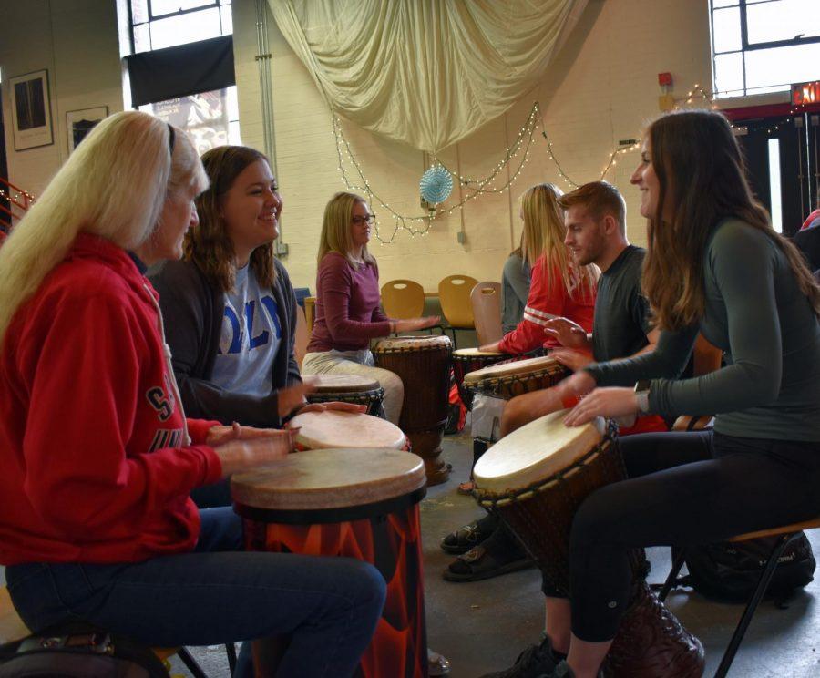 Drum Events Designed to Help Destress Students