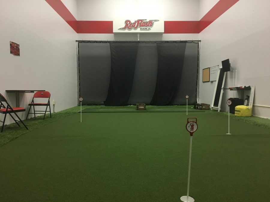 Golfers Utilizing Performance Center