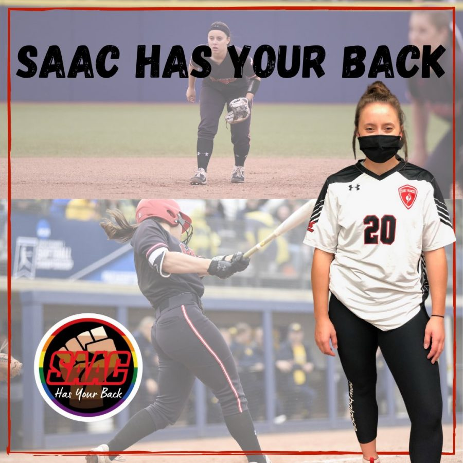 Student-Athletes Show Support for Each Other in SAAC Jersey Swap